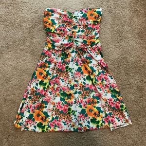Strapless PacSun Floral Dress